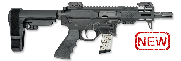 RUK-9BT Pistol with SBA3 Brace
