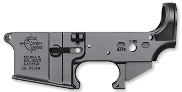 LAR-15M Forged Lower Receiver, Multi-Caliber, stripped