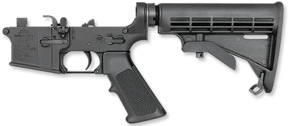 LAR-9 9mm Complete Lower Half / 6-Position Tactical Stock