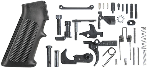 Lower Receiver Parts Kit, Single Stage Trigger, Standard A2 Grip Black